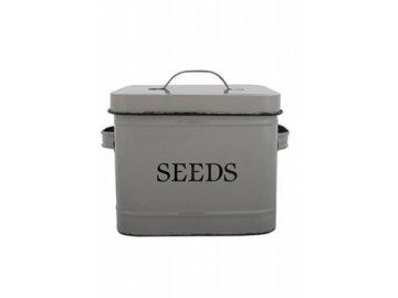 Dóza na semena šedá 24x16,5x17,6cm