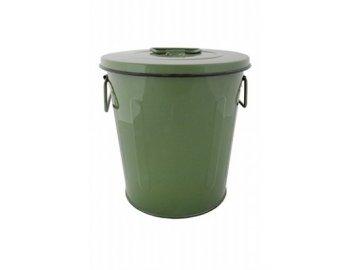 Kyblík s víkem zelený 23,7x23,7x24,5cm