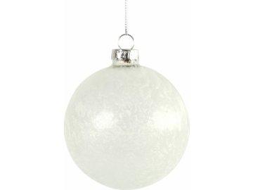 Bílá vánoční baňka Yana S