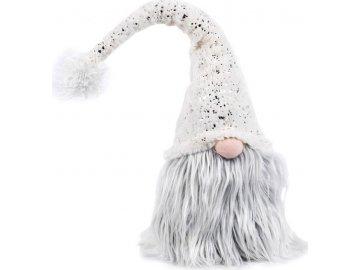 Figurka textilní dekorace, barva bílá