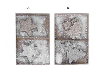 box hvězdiček a stromečků varianty