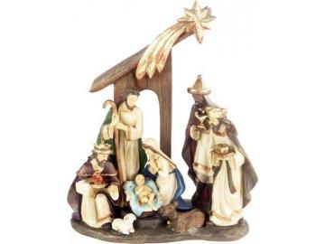 Betlém, dekorace z polyresinu