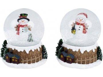 Sněžítko, polyresinová vánoční dekorace, mix 2 druhů, cena za 1 kus