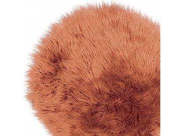 Chlupatý koberec s vysokým chlupem oříškově hnědý