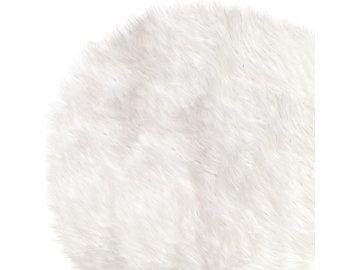 Chlupatý koberec s vysokým chlupem bílý