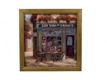 Obraz francouzské kavárničky 50x50cm