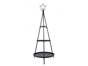 ZED 1052918; stojan dekorační, černý, v.122cm