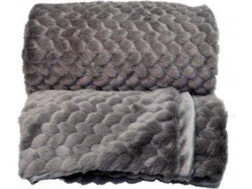 Luxusní deka Kimmie tmavě šedá