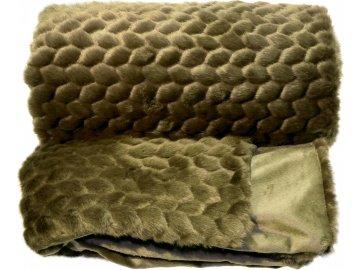 Luxusní deka Kimmie tmavě zelená