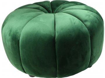 Designový taburet tmavě zelený velký