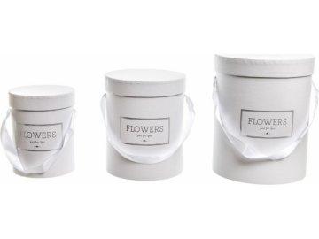 Flower box bílý, sada 3 ks