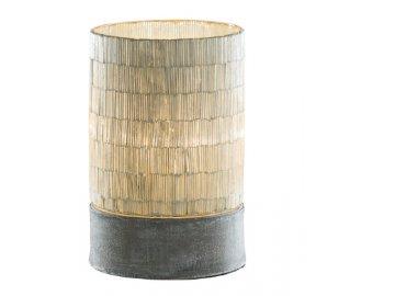 ZGE 11801164; lampa stolní skleněná na kovovém podstavci, pr.20x33cm