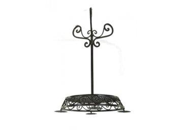 ZAR 25583; svícen stolek MADISON, tm.hnědý, kovový, pr.46x77cm