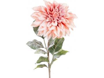 Jiřinka,  barva losová ojíněná. Květina umělá.