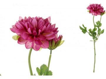 Jiřinka s poupětem, barva bordó. Květina umělá.