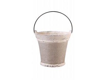 Kyblík keramický šedý