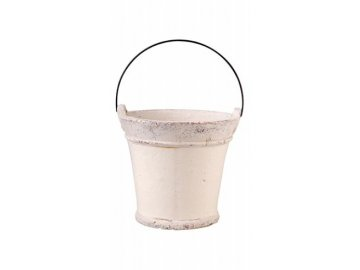 Kyblík keramický bílý