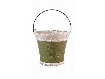Kyblík keramický zelený