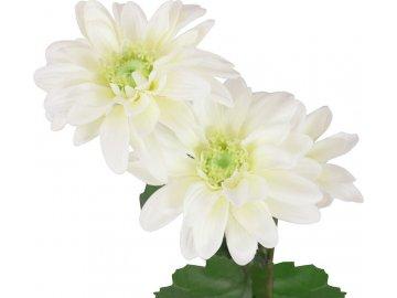Kopretina, barva bílá. Květina umělá.