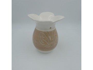 Aroma lampa keramická, barva krémová