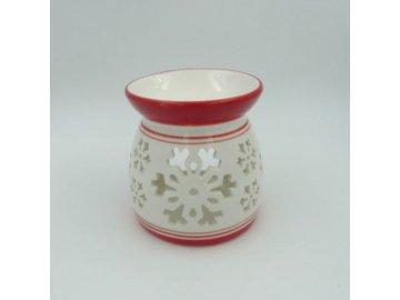 Aroma lampa keramická, barva červená, vánoční motiv