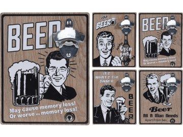 Otvírák lahví na zeď Beer