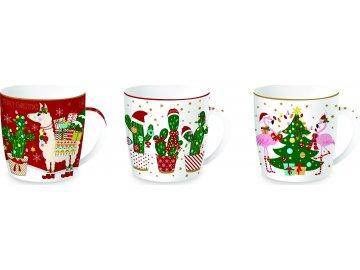 Porcelánové hrnky Fancy Christmas