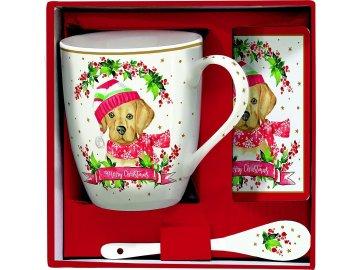 Porcelánové hrnky Christmas Dogs