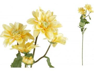 Kopretina, barva žlutá. Květina umělá.