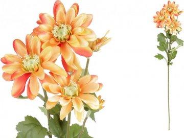 Kopretina, barva oranžová. Květina umělá.