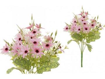 Kopretiny, puget, barva růžová. Květina umělá.