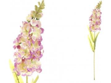 Ostrožka, barva krémovo-lila. Květina umělá.