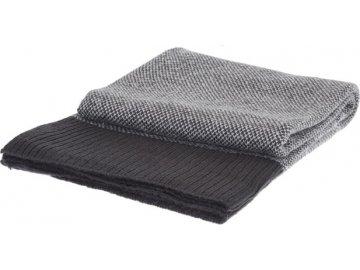 Šedá deka 130x160 cm