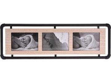 Fotorámeček Wood-Metal 58,5x19,5 cm