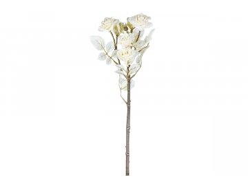 Květina umělá. Mini růžičky, ojíněné