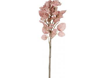 Květina umělá. Mini růžičky, zimní motiv