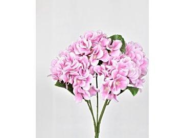 Umělá kytice hortenzií 45 cm, růžová
