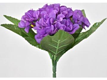 Umělá kytička primulek, 22 cm, tmavě fialová