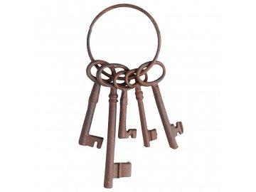 Litinové klíče svazek dekorativní 22,5cm