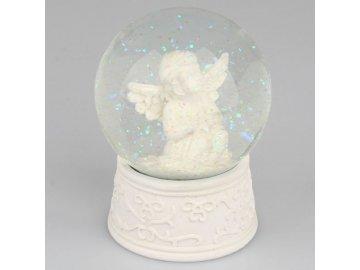 Sněžítko se sedícím andělem