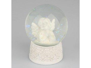 Sněžítko s modlícím se andělem střední