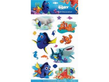 Samolepky na zeď Disney Hledá se Dory 3D 40x29cm