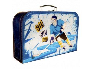 Dětský kufřík modrý Hokej 35cm