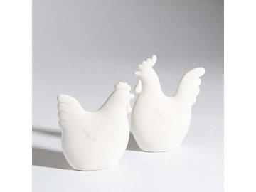 Kohoutek Blanc 10,5x3x11,5cm porcelán