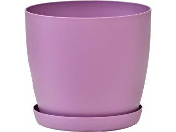 Květináč s podmiskou Aga, 160 mm, fialový