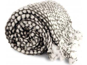 Teplý přehoz Pipa šedý