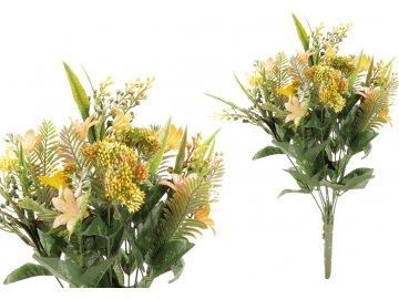 Puget květin, barva žlutá. Květina umělá plastová