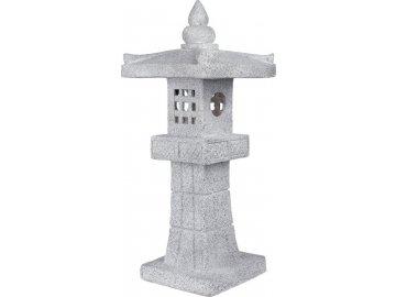 Pagoda se solárním LED světlem (baterie na solární dobíjení), zahradní magneziová keramika.