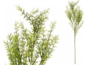 Asparagus, barva zelená. Květina umělá plastová.