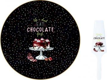 Dortový talíř s dortovou lžící Hot Chocolate
